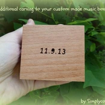 Additional carving for your custom made music boxes and jewelry boxes